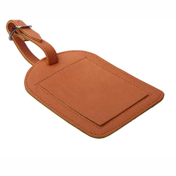 Imitation Leather rounded Rectangle Luggage Tag