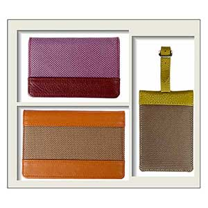 Matted Gift Set Of 3 : Passport Cover, Luggage Tag And Card Case