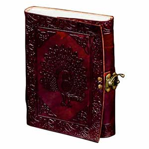 Embossed A5 Note Book Folder With Lock