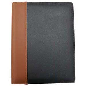 Contrast dual colour Leather B5 Conference folder
