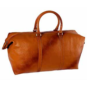 Spacious Leather Overnighter / Travel Bag